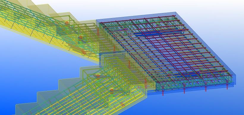 BIM projektai, laiptų armavimas, Synergy Solutions