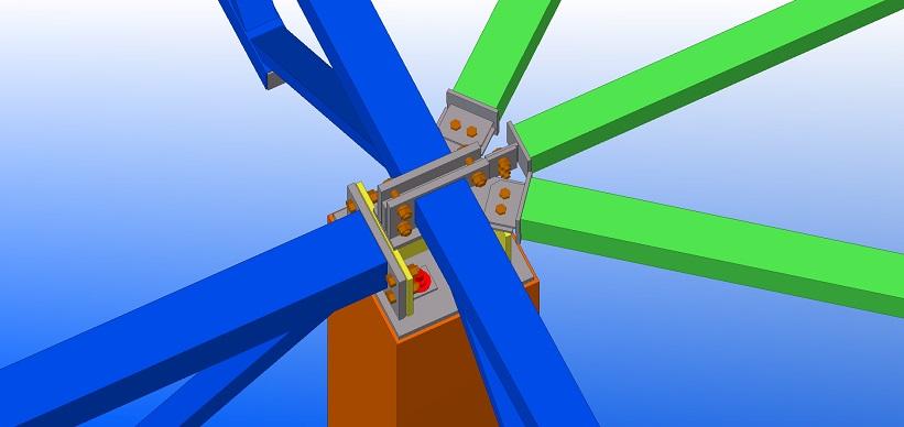 BIM projektai, plieninių konstrukcijųmazgas, Synergy Solutions