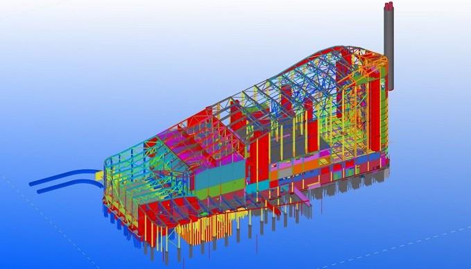 Amager Bakke šiluminės jėgainės konstrukcijų BIM modelis