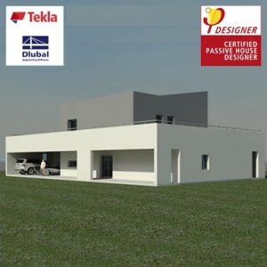 Pasyvus gyvenamasis namas, BIM projektas, Passive House, Synergy Solutions